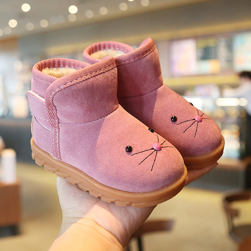 new-winter-fashion-girls-cat-face-snow-boots-girls-boys-soft-leather-shoes-toddler-children-casual-cold-winter-booties-xz19088