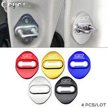 Car Styling Door lock Cover Emblems Buckle Sticker Case For Honda Mugen Power Civic Accord CRV Hrv Jazz Badge Auto Accessories