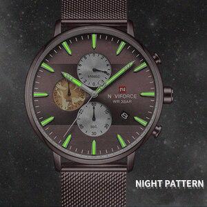 Image 2 - NAVIFORCE Top Luxury Brand Mens Business Quartz Watch Men Stainless Steel Waterproof Mens Watches Chronograph Date Male Clock