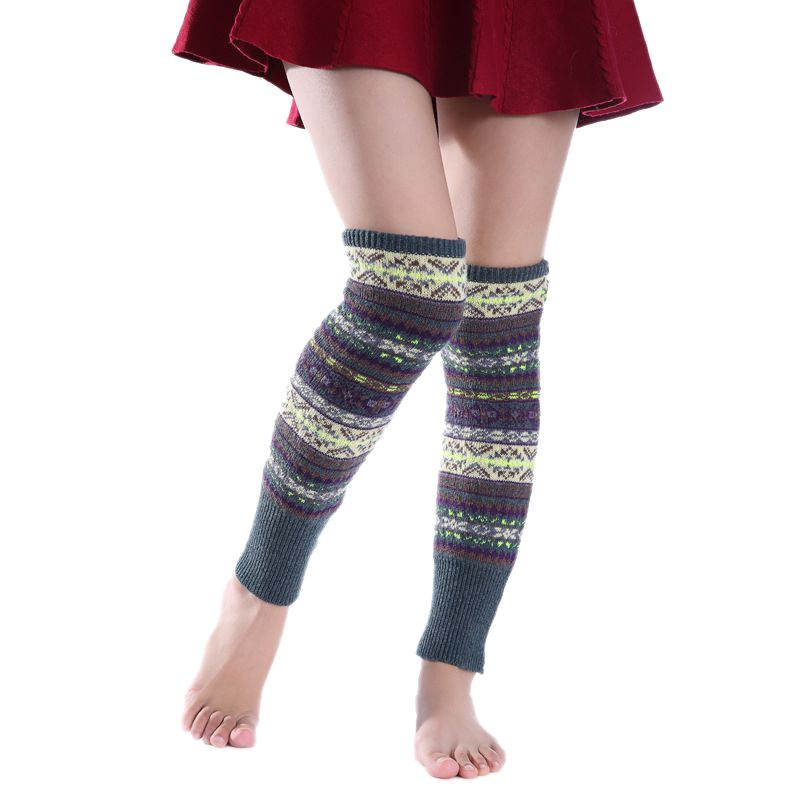 Women Knee Sleeve Autumn Winter Thick Wool Pile Cozy Socks Women Girls Camouflage Over-the-knee Warm Boots Cover Leggings 2020