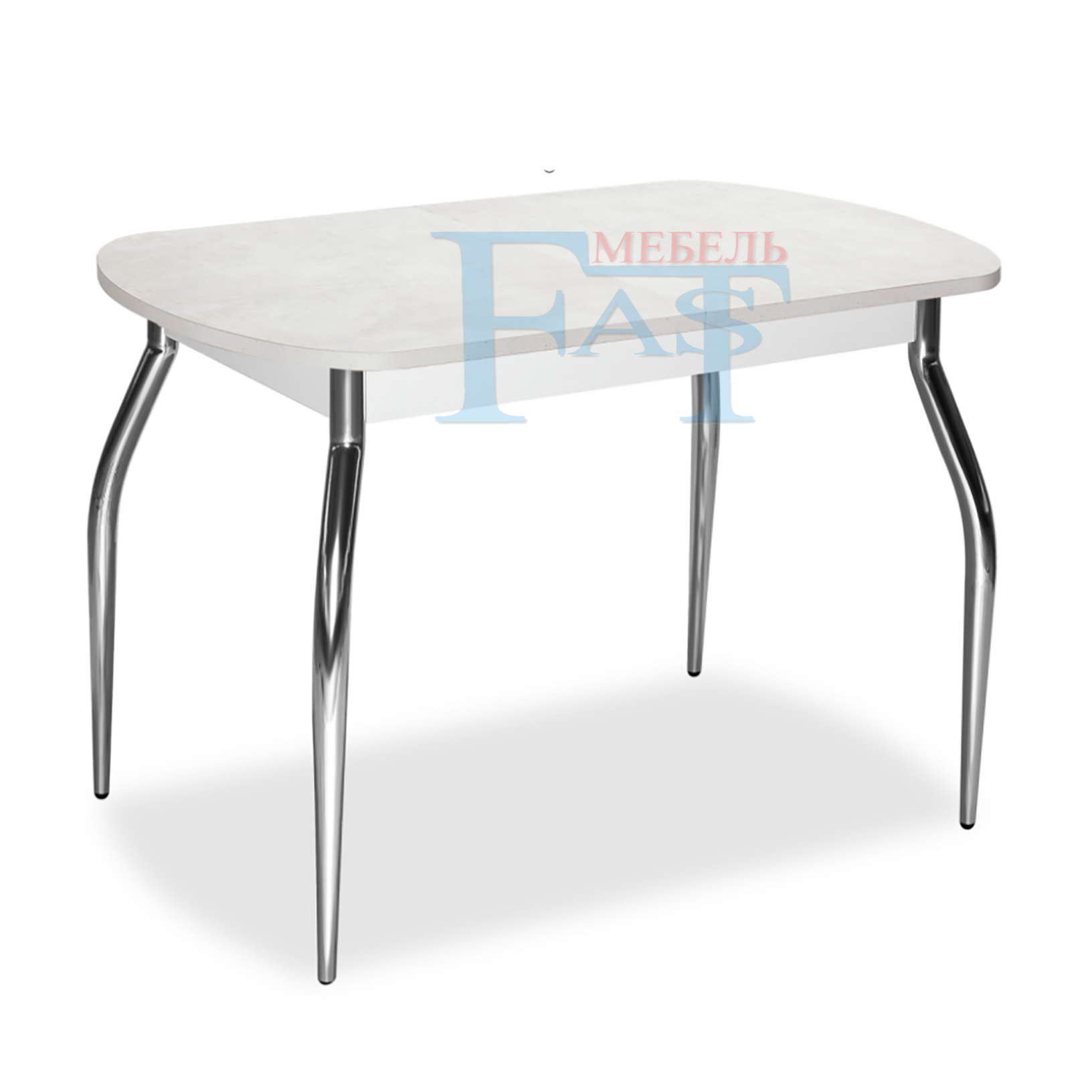 Dining Table Extendable Table Set MDF Table With Chrom Legs For Kitchen And Dining Room Modern Style For Russia Home