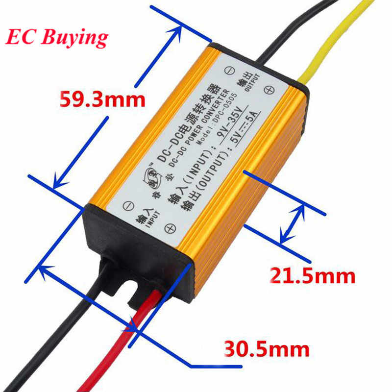 DC-DC 12V 24V Naar 5V 5A Buck Converter Voltage Regulator Step Down Voeding Module Auto/ voertuig Led 10-32V Om 12-35V Step Up