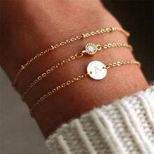 Модный золотой браслет с буквами для женщин, Простой DIY ручной работы, браслеты и браслеты в стиле бохо, ювелирные изделия
