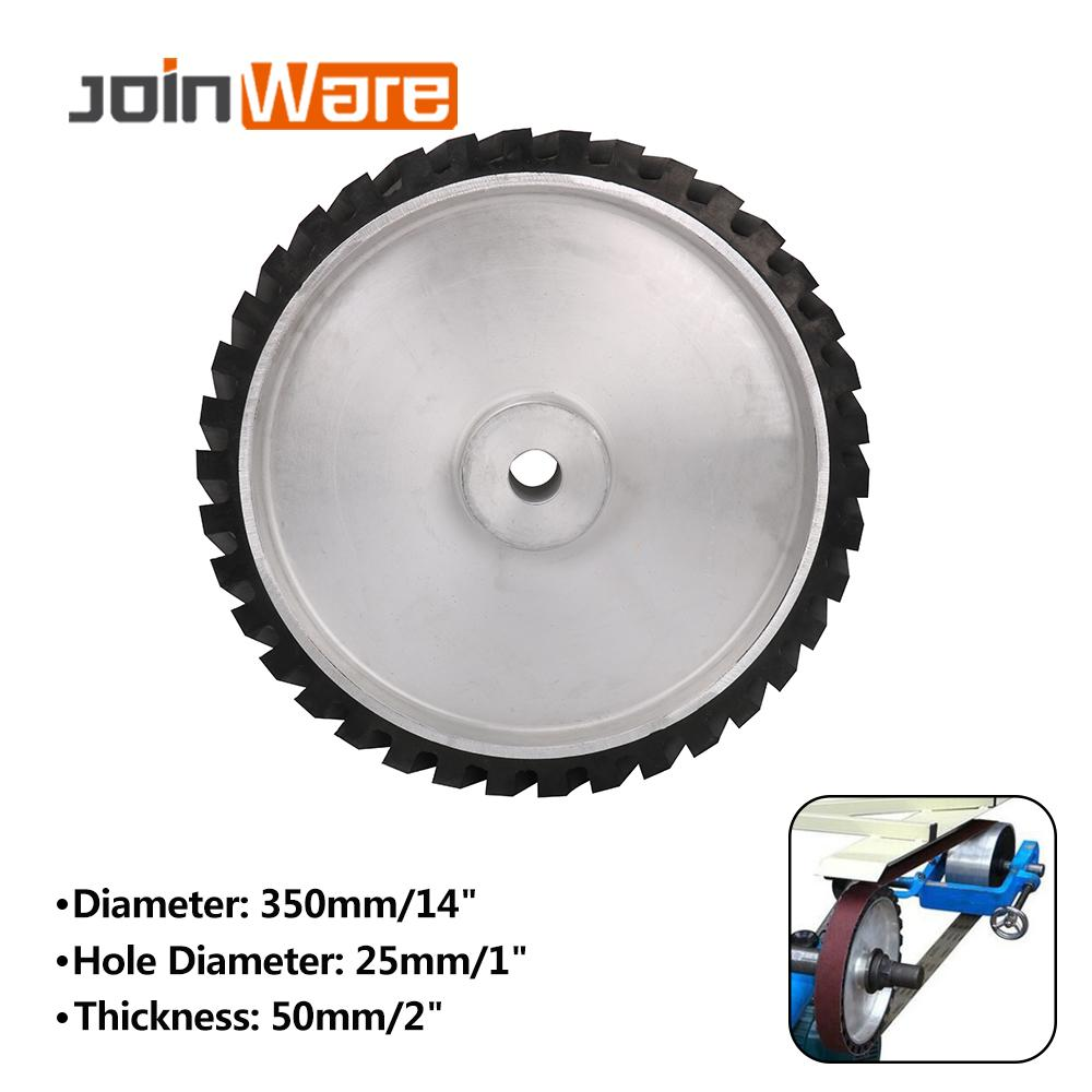 350X25X50mm Contact Wheel Rubber Wheel For Abrasive Sanding Belt Hardness 45/55/65/75
