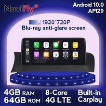 NaviFly Carplay Android 10 voiture dvd radio lecteur multimédia Navigation GPS pour BMW X3 F25 X4 F26 CIC NBT système 10.25 'écran IPS