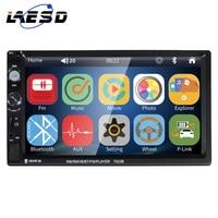 "LAESD 2 Din Car Multimedia Player 7 ""pantalla táctil TFT HD Radio del coche FM enlace espejo GPS 2din estéreo Windows ce Android ESTÉREO"