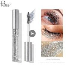 Pudaier – Mascara diamant brillant, Extensions de cils, maquillage en soie, fibre de croissance fluide, professionnel