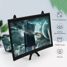 Holder Magnifier-Stand Bracket-Phone Foldable 12inch Curved-Screen Video 3D HD