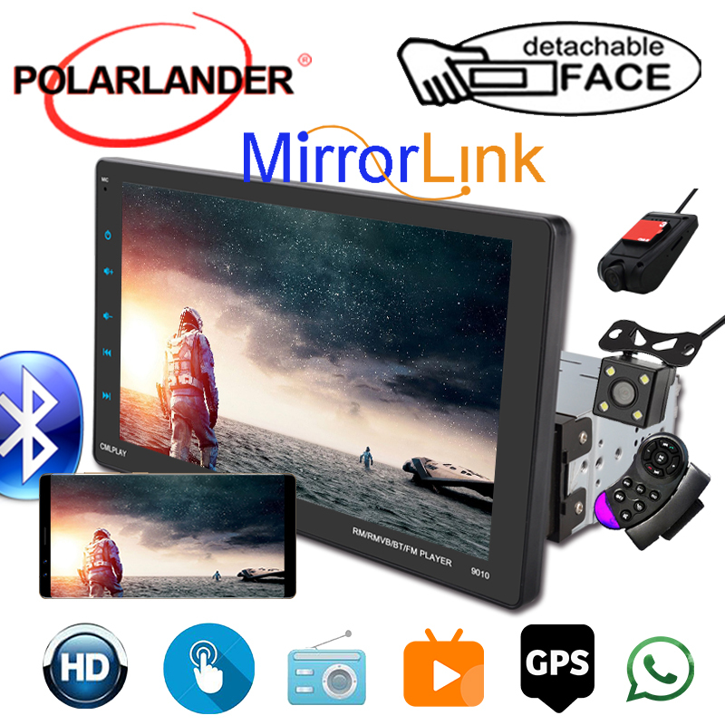 1 Din Car Auto-Radio CarPlay GPS Movable Machine Full-Screen View 9inch External MP5 Video for Android Apple Dual Inter-connection