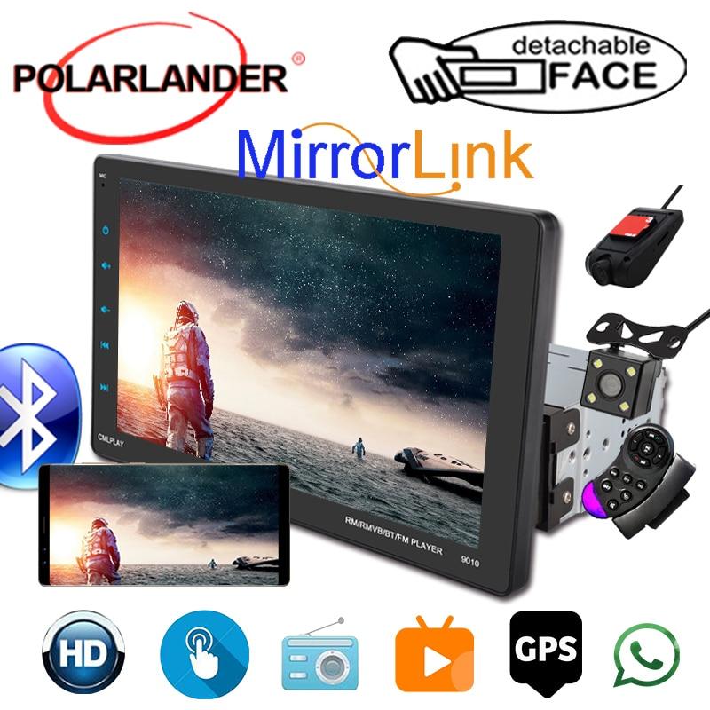 1 Din автомобильное радио CarPlay + GPS, подвижная машина, полноэкранный дисплей, 9