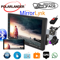 1 Din Car Auto Radio CarPlay+GPS Movable Machine Full Screen View 9 External MP5 Video for Android/Apple Dual Inter connection