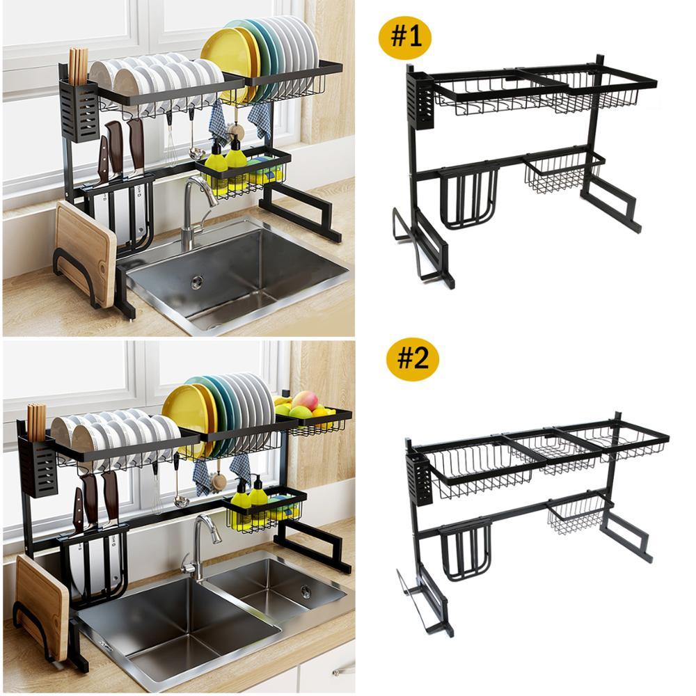 Kitchen Shelf Organizer Dish Drying Rack Over Sink Utensils Holder Bowl Dish Draining Shelf Kitchen Storage Rack US/UK/RU/AU/CN