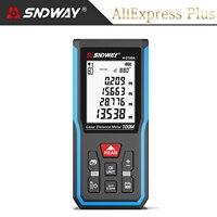 SNDWAY-telémetro láser Trena, medidor de distancia, cinta métrica, regla de nivel electrónico de Ángel, ruleta