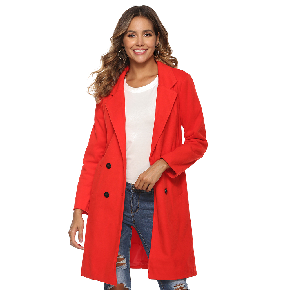 Hed23e34c6e1c434ea3c480cf52ae2554L 2018 New Women Long Sleeve Turn-Down Collar Outwear Jacket Wool Blend Coat Casual Autumn Winter Elegant Overcoat Loose Plus Size