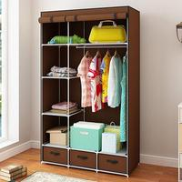 Modern Non woven Cloth Wardrobe Baby Storage Cabinet with Drawer Bedroom Furniture