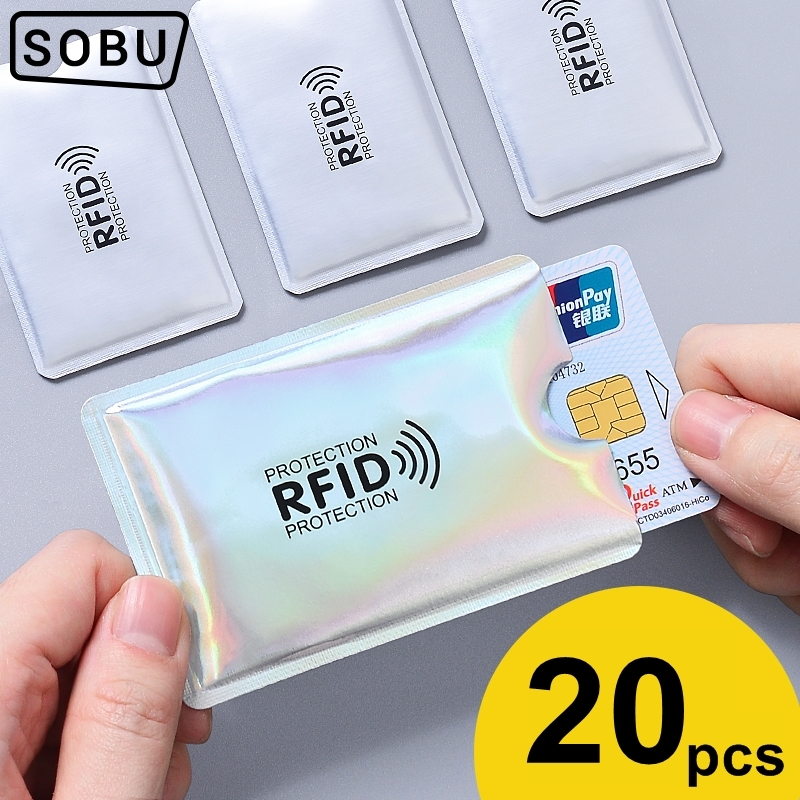 Anti Rfid Card Holder NFC Blocking Reader Lock Id Bank Card Holder Case Protection Metal Credit Card Case Aluminium J017