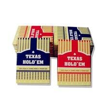 Пластиковые игральные карты Texas Holdem, карты для покера, настольные игры в покер, звезды, вертикальные полосы, 2 цвета, красная/синяя коробка