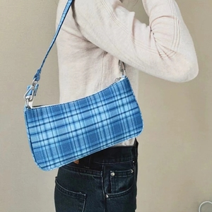 2020 Hot Vintage Baguette Bag Women Lady Handbag French Shoulder Bag Red Plaid Armpit Bag Elegant Small Women Bag bolsa feminina