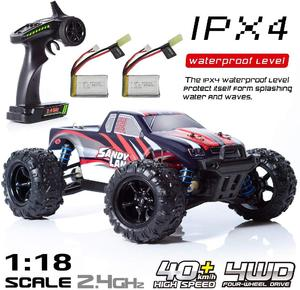 LeadingStar 9300 Remote Control Car Terrain Electric Off Road Truck 1:18 Scale 2.4Ghz Radio 4WD Fast 30+ MPH RC Vehicle(China)