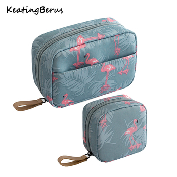 Mini Solid Color Flamingo Cosmetic Bag Cactus Travel Toiletry Storage Beauty Makeup Organizer Hot Sale - discount item  29% OFF Special Purpose Bags
