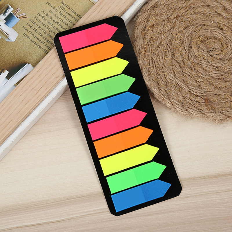 1 Набор флуоресцентных цветных блокнотов для записей, красивые липкие бумажные блокноты для записей, школьные и офисные принадлежности