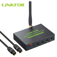 LiNKFOR 192kHz Toslink Optical Splitter Digital Audio Splitter Bluetooth 5.0 Transmitter AptX HD Aptx Low Latency Audio Adapter