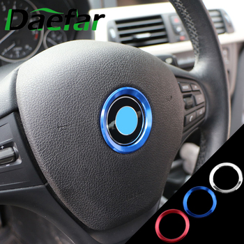 1 Piece Steering Wheel Decoration Circle Cover Sticker For BMW X1 X3 X5 X6 F25 F26 F15 F16 F48 F80 2011 - 2020 Car Accessories image