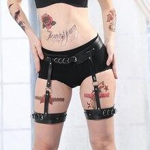 Belt Stocking Lingerie-Cage Harness-Punk Erotic-Suspender Leg Body-Strap Garters Leather