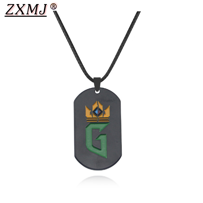 ZXMJ Witcher3 Pendant Necklace Game Quint of wizards Square Rope chain Neckalces Witcher3 For men <font><b>fans</b></font> <font><b>jewelry</b></font> Gifts New Arrival image