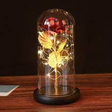 Wedding Decoration 24k Beauty and Beast Light Rose Flower Valentines Day Gift Bridesmaid Gift Mothers Day Gift Mother's Day 2021