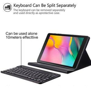 Image 5 - החייבת מקלדת Case עבור Samsung Galaxy Tab 8.0 2019 מקרה כיסוי עבור SM T290/T295 אלחוטי נשלף Bluetooth Tablet funda