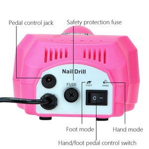 Image 4 - 35000/20000 RPM Electric Nail Drill Machine Set Milling Cutter Pedicure Manicure Polisher Tools Strong Pedal Machine Equipment