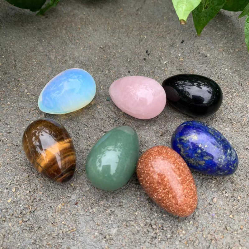 คริสตัลไข่ 7 ชิ้น/เซ็ตอัญมณีโอปอล Smooth Stone Collection Home ตกแต่งคริสตัลหินและคริสตัลควอตซ์