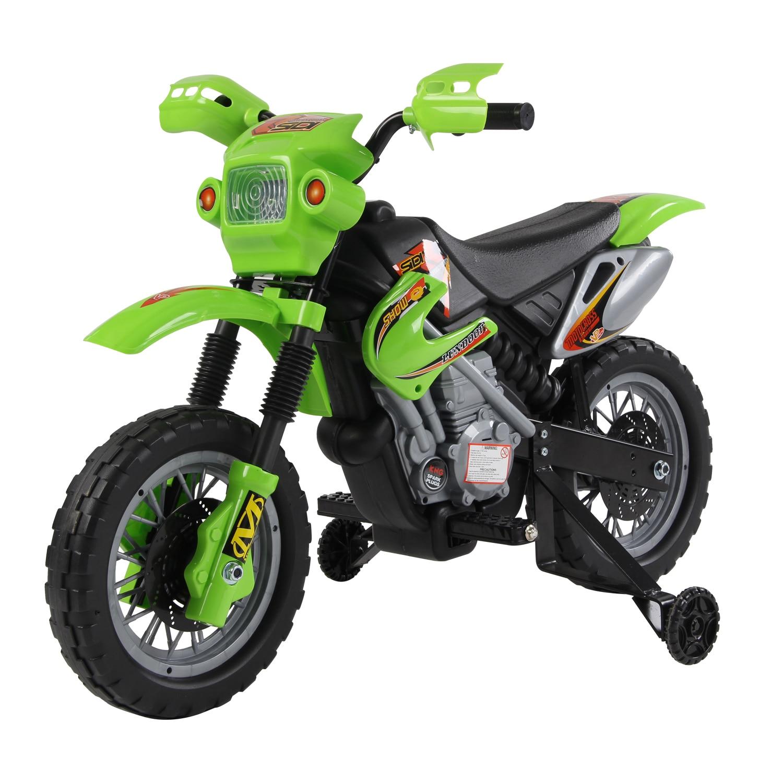 HOMCOM Moto Electrica Infantil Bateria 6V Recargable Ninos 3 Anos Cargador y Ruedas Apoyo|Coches para montarse| - AliExpress