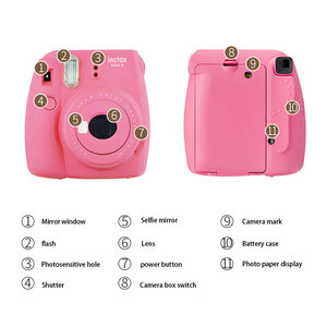 Image 5 - Fujifilm Once Imaging Camera Instax Mini9 Instant Polaroid Free 10 Pcs Photo paper Smart Beauty Gift For Kids