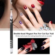 Nail Art Tool DIY Magic 3D Magnetic Cats Eyes Polish UV Gel Polish Cat Eye Plum imprinting flower Magnet Pen black