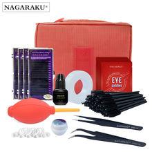 Kit profesional de extensión de pestañas postizas, conjunto de maquillaje, kit de herramientas de maquillaje portátil, nuevo