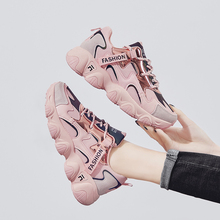Chunky Sneakers Casual-Shoes Fashion Spring/autumn Mesh PU Wedge FL7005 Zapatillas Mujer
