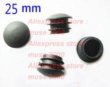 25mm Blanking buis invoegen end 1 inch buitenste, Thiner gebogen oppervlak camber pijp paal stapel plug cap, stoel voeten pad insert eindigend