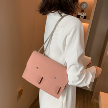 Simple Female Small Square Bag Fashion Woman Shoulder Chain Light Youth Lady Temperament Messenger Scrub Solid Color