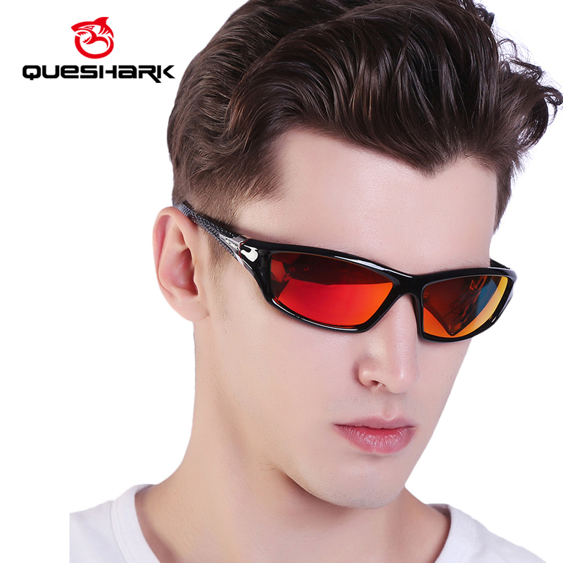 QUESHARK TR90 Untralight Frame HD Polarized Sunglasses Fishing Eyewear Cycling Glasses For Men Women Sport Hiking Running Golf