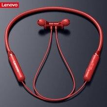 Lenovo беспроводные Bluetooth наушники, магнитные спортивные наушники для бега IPX5, водонепроницаемые спортивные наушники с шумоподавлением