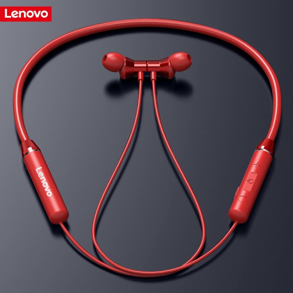 Lenovo Wireless Bluetooth Earphone Headphones Magnetic Sports Running Headset Earplug Waterproof Sport Earphones Noise Canceling