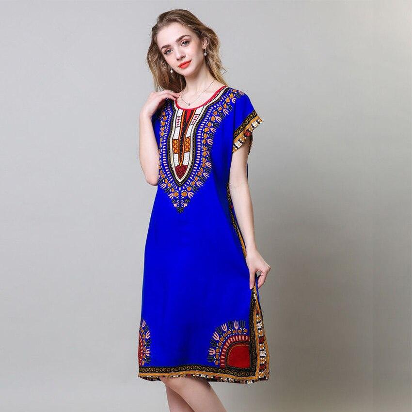 Loose African Dress For Women Dashiki Tribe Totem 3D Print Long Robe Plus Size Female Riche Bazin Street Wear Vestido Dress