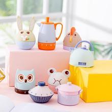 цена на Cartoon Home Decoration Mechanical Alarm Timer Mini Cooking Time Management Reminder Kitchen Baking Tool Timer Learning Timer