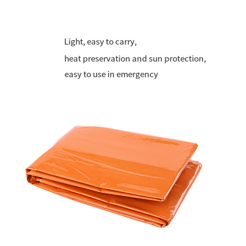 Cool Swim Bee Outdoor PE Orange Emergency Blanket Blanket Warm Survival Insulation Blanket Rescue Ying Ji Tan Emergency Blanket