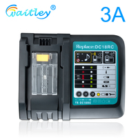 Batterie Ladegerät 3A Schnelle Ladestrom Für Makita 14,4 V 18V 7,2 V Werkzeug Akkus Eu-stecker 90W DC18RCT DC18RA 1290 BL1850 BL1860