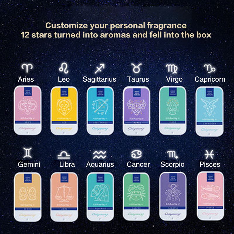 High Quality 12 Signs-Constellation Solid Deodorant Solid Fragrance Magic Perfume Gift Box Of Exquisite Perfume  K1