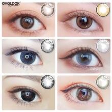 Ovolook 2pcs/пара Цвет ed линзы для глаз 6 тон контактные Объектив