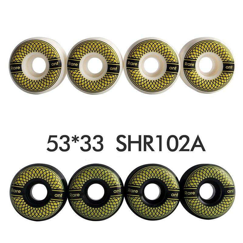 4PCS Per Kit Pro Skateboard Wheels 53*33mm SHR102A Ollie Fakie Mongo Kickflip Skateboarding Wheehs Hard Wheels Skateboard Parts